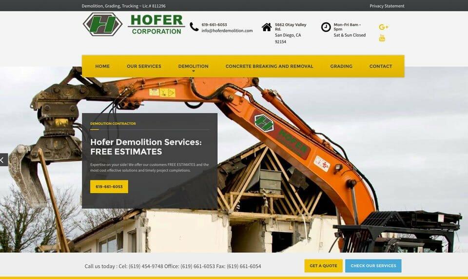 hoferdemolition.com